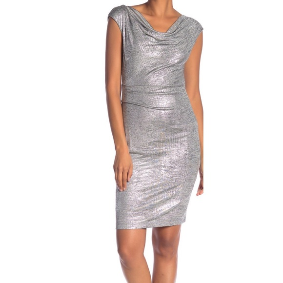 624f45d908d Charity sale VINCE CAMUTO Cowl Neck Metallic Dress.  M 5c774583aa87709d074f0cf3